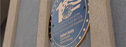 Balfour Beatty 10,000th Military Housing Unit Plaque