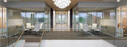 Compass Group Global Headquarters Charlotte, NC Hallway Meeting Rooms