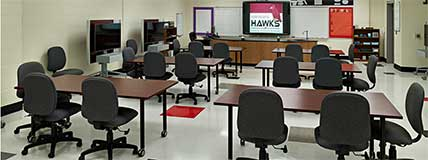 Hawthorne High School  Charlotte North Carolina Classroom Hawks