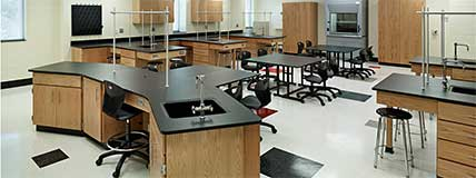 Hawthorne High School  Charlotte North Carolina Lab Science Classroom