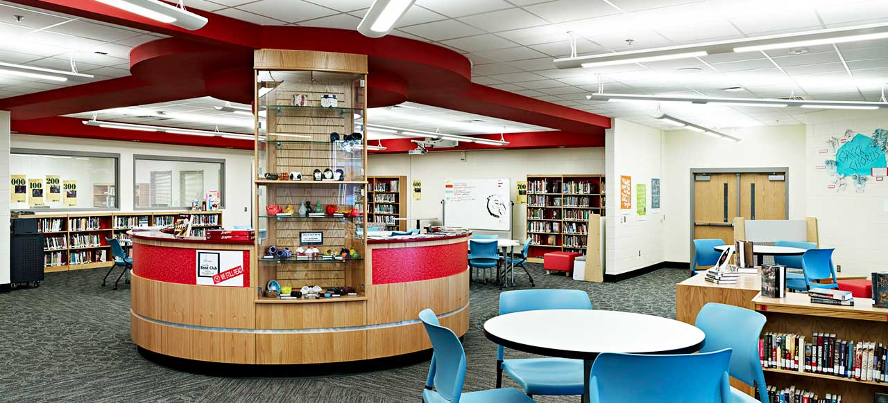 Hawthorne High School  Charlotte North Carolina Library