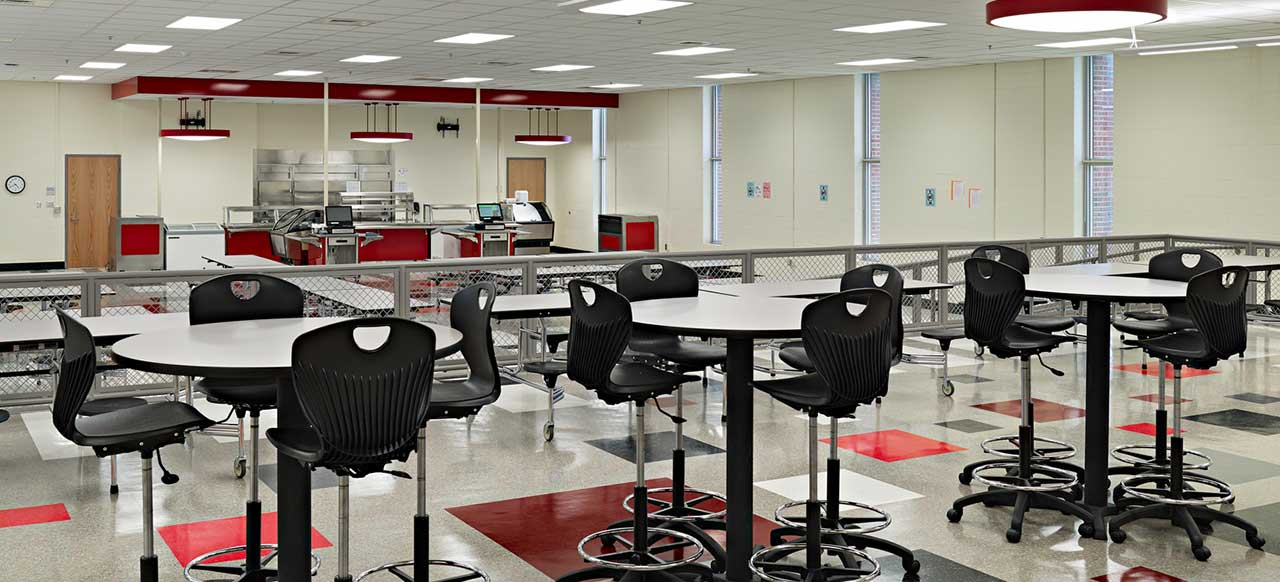 Hawthorne High School  Charlotte North Carolina Cafeteria