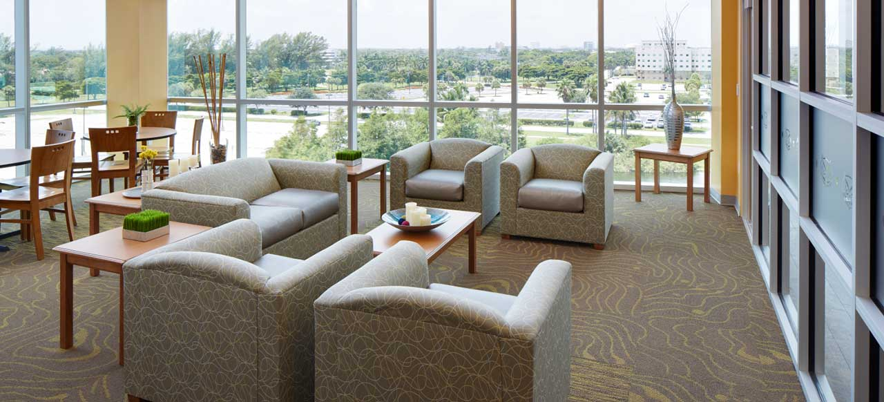 Florida Atlantic University (FAU) Parliament Hall Boca Raton Common Area Couches Study