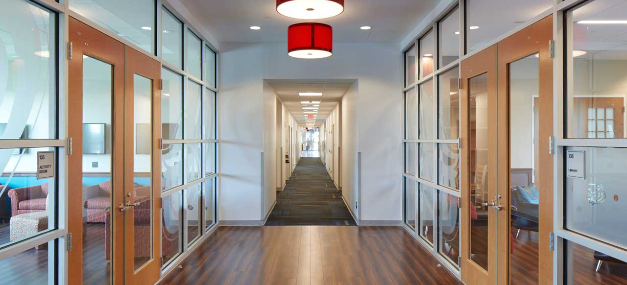 Florida Atlantic University (FAU) Parliament Hall Boca Raton Activity Room Students Hallway