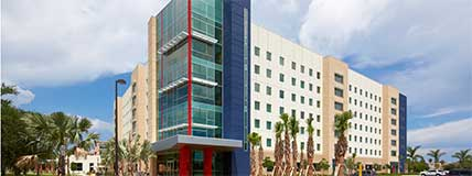 Florida Atlantic University (FAU) Parliament Hall Boca Raton Exterior Building