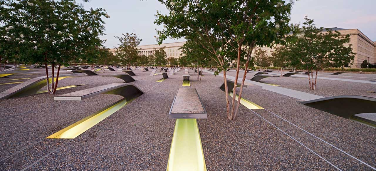 Pentagon Memorial Courtyard