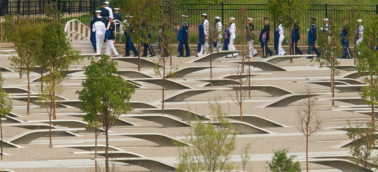 Pentagon Memorial Courtyard Military