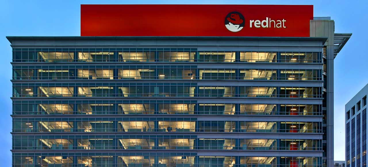 Red Hat Corporate Headquarters Raleigh, NC Exterior View Illuminated