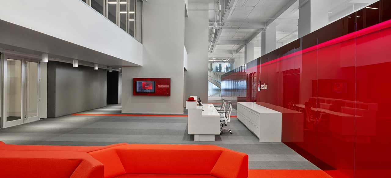 Red Hat Corporate Headquarters Raleigh, NC Welcome Reception Area