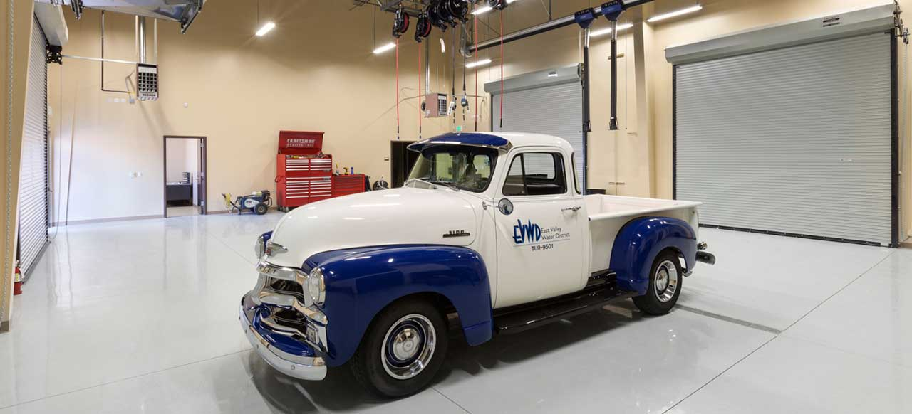 East Valley Water District Headquarters Facility Highland, CA Interior Truck Garage