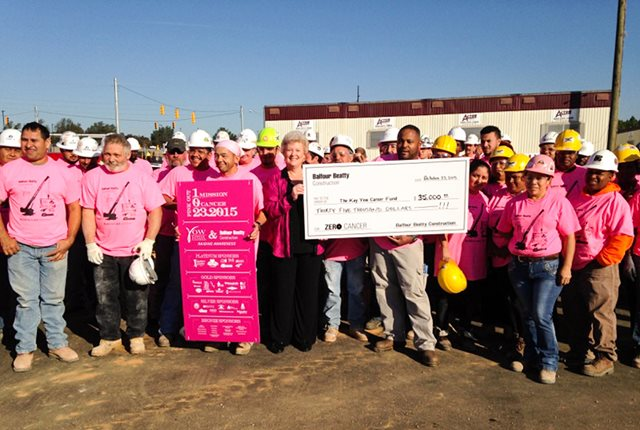 Balfour Beatty Pink Out Kay Yow Cancer Fund